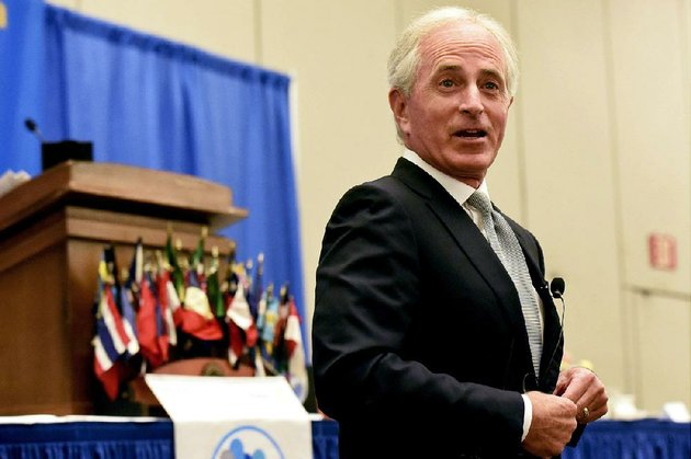us-sen-bob-corker-at-a-rotary-club-meeting-in-chattanooga-tenn-called-for-radical-changes-in-how-the-trump-white-house-operates