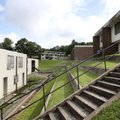The Willow Heights public housing complex is on the west facing hillside above downtown Fayetteville...