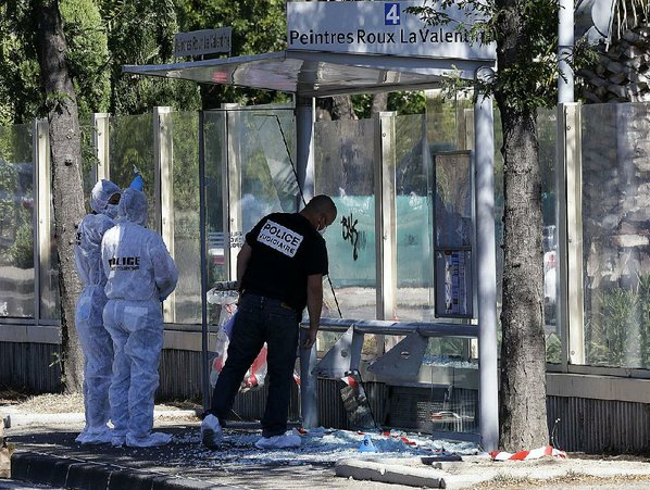 1 dead, 1 injured as van rams bus stops in Marseille, France