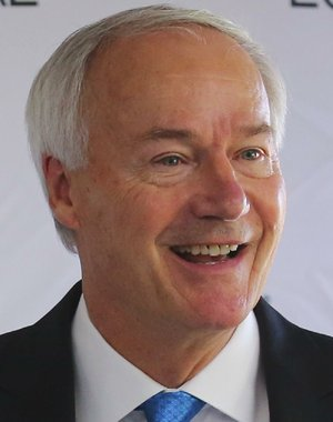 Gov Asa Hutchinson is shown in this file photo.