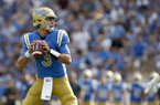 UCLA quarterback Josh Rosen in action against Texas A&M during an NCAA college football game, Sunday, Sept. 3, 2017, in Pasadena, Calif. UCLA won 45-44. (AP Photo/Danny Moloshok)
