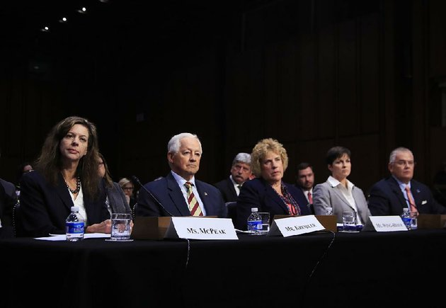 tennessee-department-of-commerce-and-insurance-commissioner-julie-mix-mcpeak-from-left-washington-state-insurance-commissioner-mike-kreidler-alaska-division-of-insurance-director-lori-wing-heier-insurance-commissioner-of-pennsylvania-theresa-miller-and-oklahoma-department-of-insurance-commissioner-john-doak-testify-wednesday-during-a-senate-health-education-labor-and-pensions-committee-hearing-on-the-individual-health-insurance-market-for-2018-on-capitol-hill