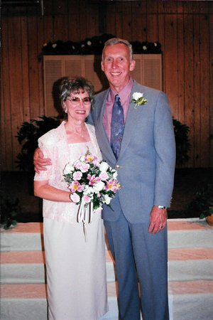 "Bob Myrick and Betty Russell married on Aug. 7, 1999. Both had lost spouses recently and neither thought they would marry again, until they fell in love. ""It's just a God thing,"" Bob says. ""God just put her there, and she called me one night and asked me if I wanted to come to dinner."""