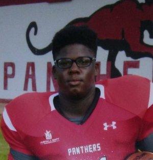 Clarksville sophomore defensive lineman Mike Powell.