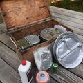 A camp box that stays packed with cook kit, stove and other items saves time when preparing for a tr...