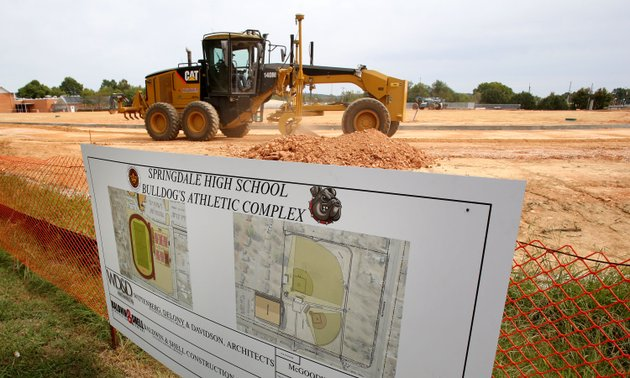 work-continues-tuesday-on-springdale-high-schools-bulldog-athletic-complex-south-of-the-high-school-on-pleasant-street-in-springdale-this-part-of-the-complex-will-have-an-exterior-track-with-a-full-size-soccer-field-on-the-infield-the-northern-part-of-the-complex-will-have-a-softball-and-baseball-facility