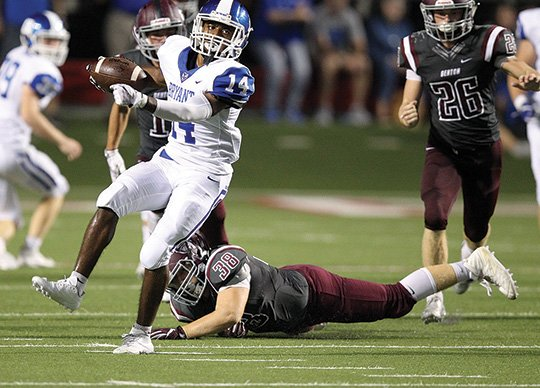 arkansas-democrat-gazettethomas-metthe-backyard-clash-brandon-murray-slips-away-from-bentons-bryce-golleher-on-a-punt-return-in-the-fourth-quarter-of-bryants-49-42-victory-in-the-salt-bowl-sept-2-at-little-rocks-war-memorial-stadium-bryant-is-home-tonight-against-lake-hamilton-in-a-matchup-of-2-0-teams