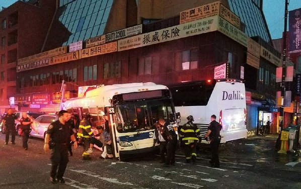 Three people dead after bus collision in NY