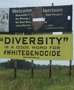 Two billboards containing messages that some people found offensive were removed last week in Harrison. The lessee had neglected to make a $20 permit renewal payment that's due to the state every other year.
