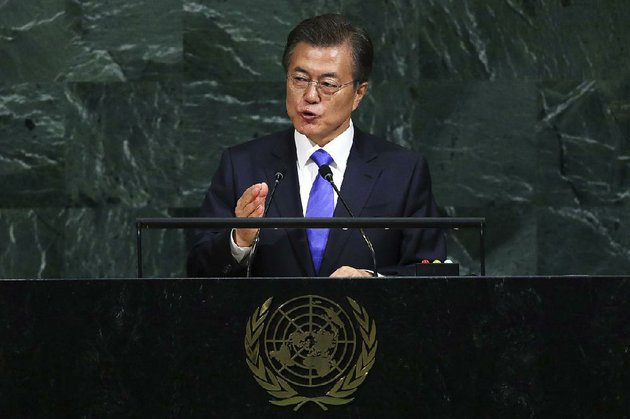 we-do-not-desire-the-collapse-of-north-korea-south-korean-president-moon-jae-in-said-thursday-in-his-address-to-the-un-general-assembly-he-called-on-world-leaders-to-peacefully-solve-the-north-korea-nuclear-threat