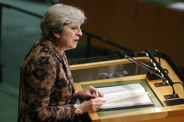 british-prime-minister-theresa-may-addresses-the-united-nations-general-assembly-at-un-headquarters-wednesday-sept-20-2017-ap-photojason-decrow