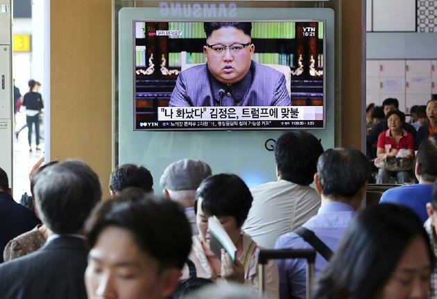 people-watch-a-tv-screen-friday-in-seoul-south-korea-that-shows-north-korean-leader-kim-jong-un-delivering-a-statement-in-response-to-president-donald-trumps-speech-to-the-united-nations-the-screen-reads-i-was-angry