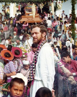 The Rev. Stanley Rother is shown in Guatemala at Carnival, the Roman Catholic celebration held just before Lent. Rother is to become the Blessed Stanley Rother at a beatification ceremony today being held in his honor.