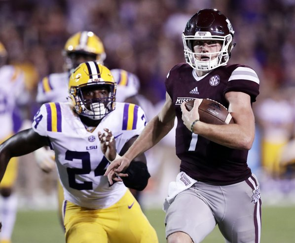 'Chicks dig the check down' is advice Miss State QB Nick Fitzgerald got from Dan Mullen