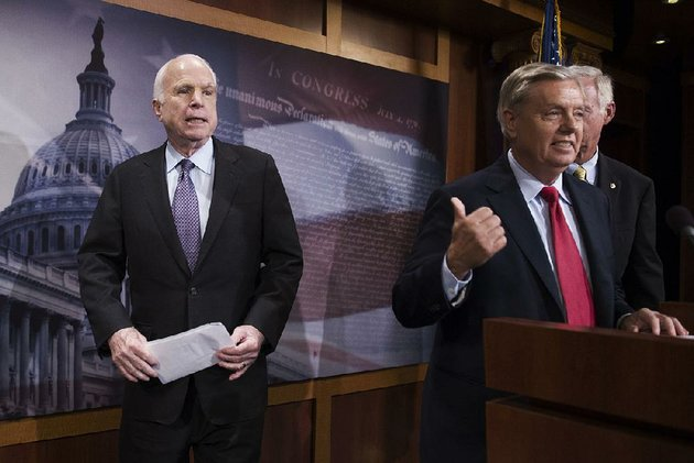 sen-john-mccain-left-waits-onstage-july-27-as-fellow-republican-sen-lindsey-graham-talks-about-health-care-legislation-mccain-let-his-best-friend-graham-down-by-opposing-grahams-repeal-bill-president-donald-trump-said-in-a-tweet-saturday