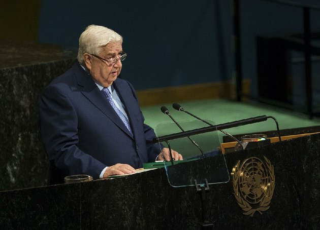 syrian-foreign-minister-walid-moallem-in-an-address-to-the-un-general-assembly-said-saturday-that-his-country-is-marching-steadily-toward-its-goal-of-rooting-out-terrorism