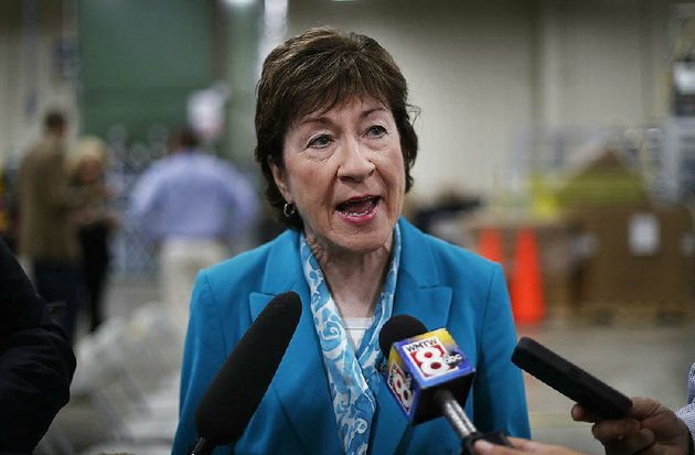 in-this-thursday-aug-17-2017-file-photo-us-sen-susan-collins-r-maine-speaks-to-members-of-the-media-while-attending-an-event-in-lewiston-maine