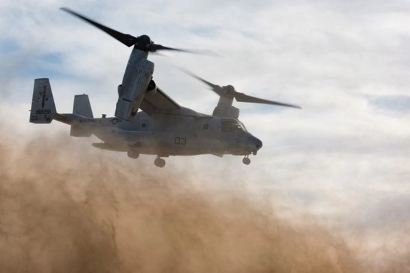 MV-22 Osprey Coalition Plane Crashes in Syria: Two US Servicemen Injured