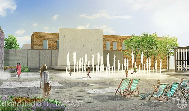 an-artists-rendering-shows-the-proposed-downtown-north-little-rock-plaza