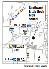 Construction begins on first high school built in little rock school a map showing the location of southwest little rock high school malvernweather Gallery
