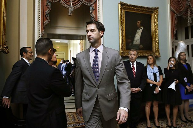 sen-tom-cotton-r-ark-leaves-a-meeting-of-republican-senators-tuesday-sept-19-2017-on-capitol-hill-in-washington