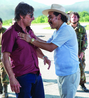 Barry Seal (Tom Cruise ) is accosted by narcotics kingpin Jorge Ochoa (Alejandro Edda) in Doug Liman's American Made, the story of the Mena-based smuggler.