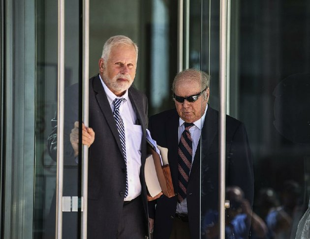 former-district-judge-joseph-boeckmann-right-leaves-the-federal-courthouse-in-october-in-little-rock-with-his-attorney-jeff-rosenzweig-after-pleading-guilty-to-wire-fraud-and-witness-tampering