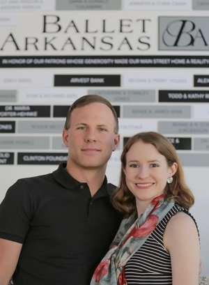 Arkansas Democrat-Gazette/JOHN SYKES JR. Michael Fothergill and his wife, Catherine Garratt Fothergill, both came to Ballet Arkansas from the Alabama Ballet. He is artistic director for the Little Rock company and she its associate artistic director. The season opens Oct. 13 with a special performance at the Walton Arts Center in Fayetteville.