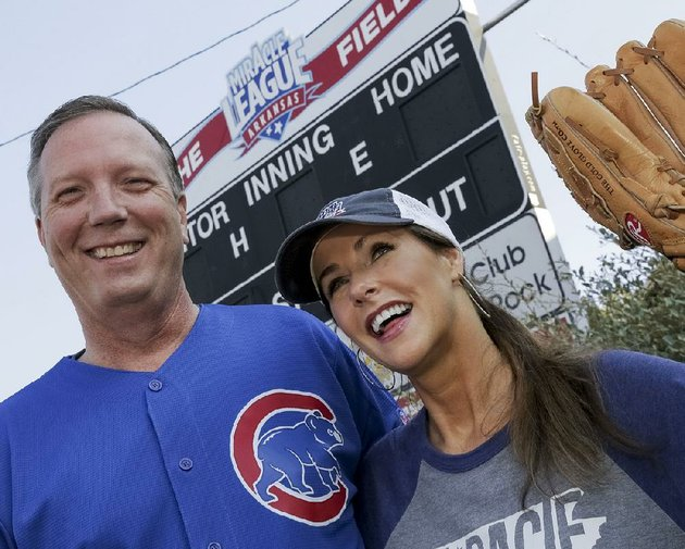 john-and-michele-bowen-chairmen-of-this-weekends-miracle-league-of-arkansas-11th-annual-double-header-fundraiser-are-ready-to-catch-the-miracle-league-field-in-little-rocks-junior-deputy-complex