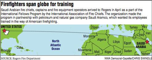 Rogers firefighters train counterparts from Saudi Arabia