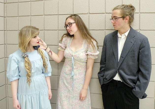 drama-students-at-conway-high-school-will-portray-people-who-are-buried-at-the-oak-grove-cemetery-during-tours-presented-by-the-faulkner-county-historical-society-on-oct-22-kelli-king-from-left-will-portray-8-year-old-maud-e-ingram-who-was-the-first-person-buried-in-the-cemetery-in-1881-isabella-stanley-will-play-ruth-o-freeman-robbins-and-noah-smith-will-portray-luther-fred-gordy-sr-king-and-smith-are-also-writing-the-script-for-the-upcoming-presentation