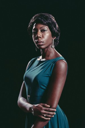 "Joy Jones is Nina Simone in TheatreSquared's world Premiere of ""The Champion"" by Amy Evans."