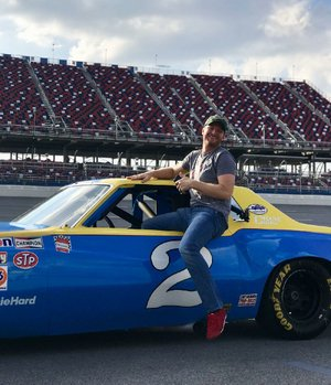 Dale Earnhardt Jr. got a chance to drive his father's Chevrolet Monte Carlo before his final race at Talladega