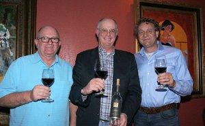 wine dinner for Tom Gamble