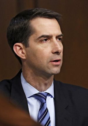 Sen. Tom Cotton, R-Ark., is shown on Capitol Hill in this file photo.