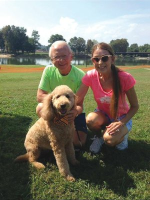 Dick and Nancy Bernard spend the day with their dog at last year's Bark in the Park event in Batesville.