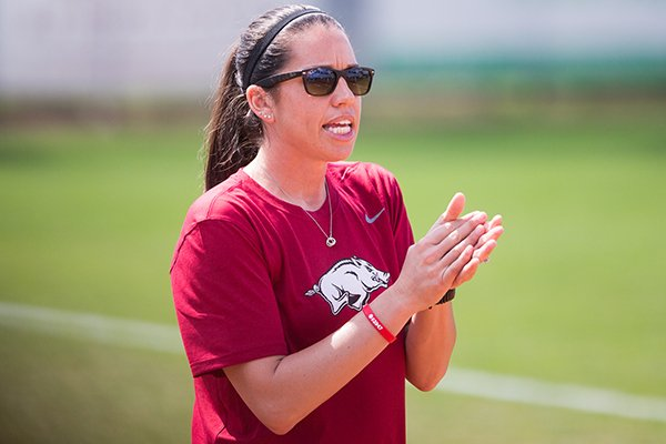 Arkansas softball coach Courtney Deifel is in her third season. She led the Razorbacks to the NCAA Tournament in 2017.