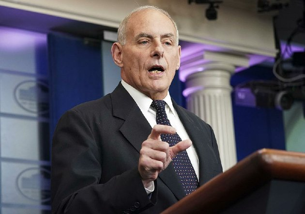 at-thursdays-white-house-briefing-chief-of-staff-john-kelly-expressed-frustration-over-news-accounts-about-president-donald-trumps-call-to-the-widow-of-a-soldier-killed-in-action