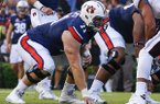 Auburn offensive lineman Braden Smith (71) lines up against Mississippi State during the first half of an NCAA college football game, Saturday, Sept. 30, 2017, in Auburn, Ala. (AP Photo/Butch Dill)