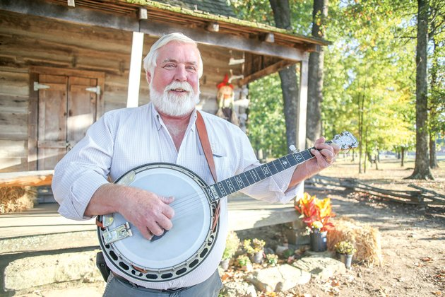 jim-talbert-the-chapter-leader-for-the-songfarmers-of-cabot-bluegrass-group-started-playing-banjo-50-years-ago-his-goal-is-to-pass-down-and-preserve-bluegrass-music-while-jamming-with-local-musicians-once-a-month