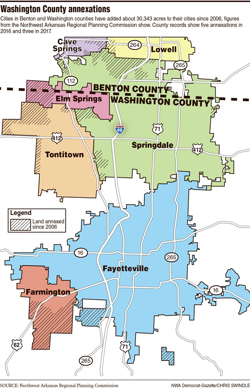 Tontitown Arkansas Map.Cities Busting Out Of Their Borders