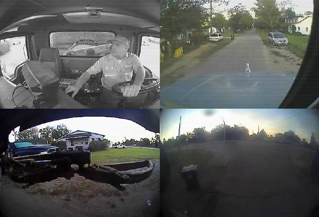 this-picture-is-from-the-city-of-walnut-ridges-video-system-that-monitors-its-garbage-truck-route-and-driver-four-cameras-shoot-pictures-and-video-of-the-trucks-inside-the-arm-used-to-pick-up-trash-cans-and-the-front-and-rear-views-from-the-truck