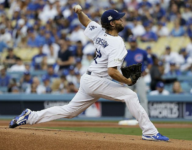 three-time-cy-young-award-winner-clayton-kershaw-will-pitch-for-the-first-time-in-the-world-series-the-left-hander-will-start-game-1-for-the-los-angeles-dodgers-tonight-against-the-houston-astros-at-dodger-stadium