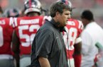 Mississippi head coach Matt Luke scowls as he walks past his team during their game against Vanderbilt, in the second half of the NCAA college football game in Oxford, Miss., Saturday, Oct. 14, 2017. Mississippi won 57-35. (AP Photo/Rogelio V. Solis)