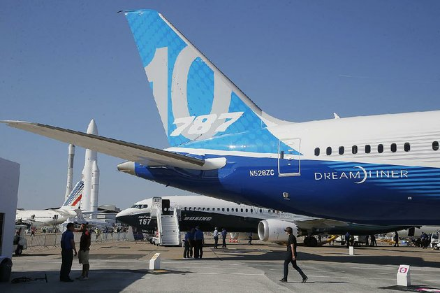 people-stand-near-a-boeing-787-10-dreamliner-on-the-eve-of-the-paris-air-shows-opening-in-june-boeing-said-wednesday-that-third-quarter-sales-rose-2-percent-to-367-billion