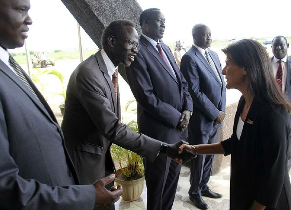 South Sudan: Nikki Haley evacuated from United Nations camp amid protests