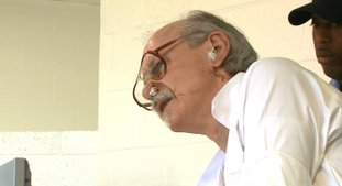 In this on Oct. 4, frame grab from video, Arkansas death row inmate Jack Greene appears before the state parole board at a prison in Varner, Ark. Greene is scheduled to die Nov. 9, but his lawyers are arguing that he is severely mentally ill and that, as a result of that, he sticks strands of tissue into his ears and nose to the point that they become bloody. (KTHV via AP, Pool)