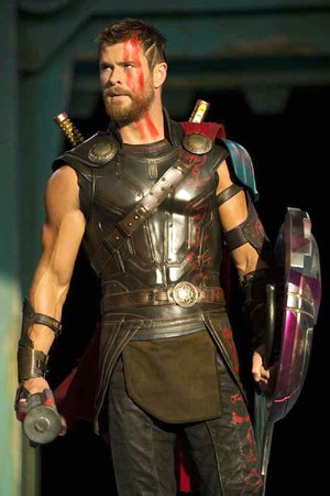 Thor (Chris Hemsworth) is forced into gladiatorial competition in Thor: Ragnarok, the 17th entry in the Marvel Cinematic Universe.