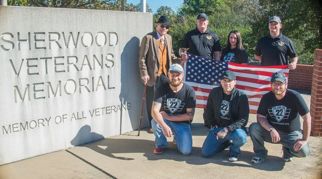 we-are-the-22-a-nonprofit-that-works-to-reduce-veteran-suicide-will-host-the-first-patriot-fest-on-saturday-with-a-memorial-walk-to-begin-at-8-am-at-friendly-acres-park-in-judsonia-members-include-kneeling-from-left-jerad-harrison-travis-haskell-and-david-lowrey-and-standing-larry-johnson-organizer-mikel-brooks-melanie-fetterolf-and-jessie-stark