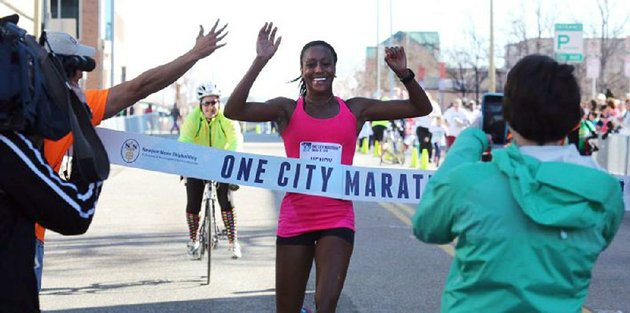 sika-henry-center-is-shown-a-moment-before-winning-her-second-consecutive-newport-news-one-city-marathon-in-newport-news-va-in-march-2016
